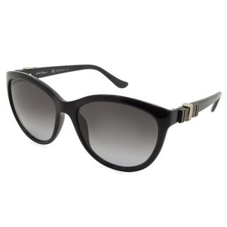 Ferragamo - SF760S-001 Black 57 mm Round Sunglasses