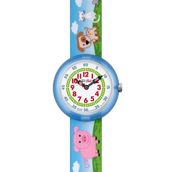 Shop Swatch Kids ZFBNP043  Flik Flak Farmily  Colorful Fabric Watch - multi  - Free Shipping Today - Overstock - 15809450 32b7161d903