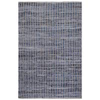 Handmade Fab Habitat Recycled Cotton & Denim Rug - Vienna - Denim (India)