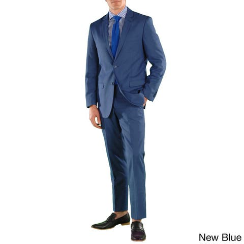 Ferrecci Mens Stunning Solid Color Slim Fit 2 Piece Suit