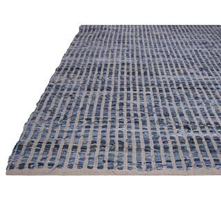 Handmade Fab Habitat Recycled Cotton & Denim Rug - Vienna - Denim (India) - 6' x 9'