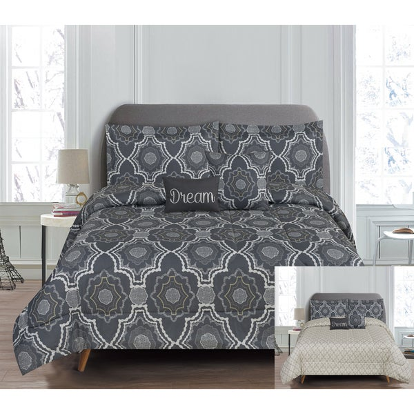 RT Designers Collection Crosby 5-Piece Reversible Comforter Set