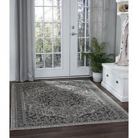 Alise Rugs Colonnade Traditional Black Area Rug (7'10 x 10'3)