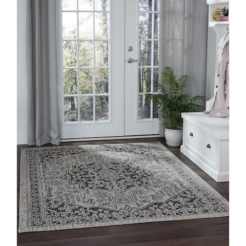 Alise Rugs Colonnade Traditional Medallion Area Rug - 6'7 x 9'6