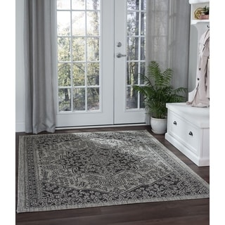 Alise Rugs Colonnade Traditional Medallion Area Rug - 5'3 x 7'3