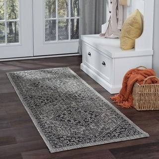 Alise Rugs Colonnade Traditional Medallion Runner Rug
