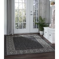 Alise Rugs Colonnade Traditional Border Area Rug - 6'7 x 9'6