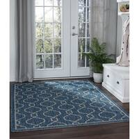Alise Colonnade Indigo Blue Transitional Area Rug