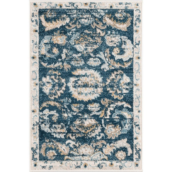 Alise Rugs Parker Navy Transitional Area Rug (2' x 3')