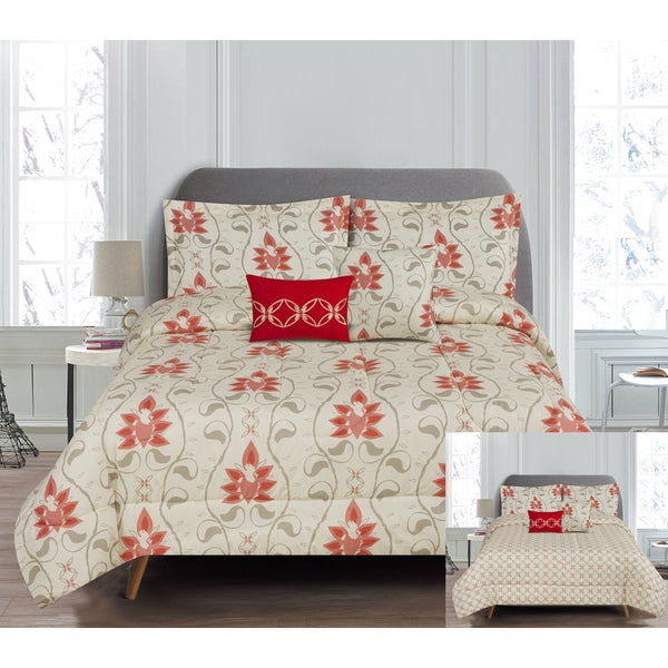 RT Designers Collection Colby 5-Piece Reversible Comforter Set