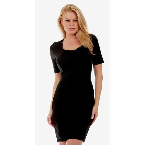 InstantFigure Short Sleeve Compression Slimming Dress