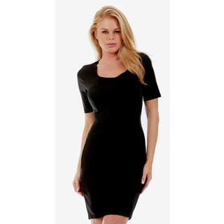 InstantFigure Short Sleeve Compression Slimming Dress|https://ak1.ostkcdn.com/images/products/15810368/P22224784.jpg?impolicy=medium