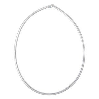 Handmade Sterling Silver 18-inch 4mm Omega Chain (Italy)