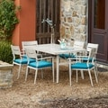 Corvus Parma Outdoor 1 Table and 6 Chairs with Cushions Dining Set (Set of 7)