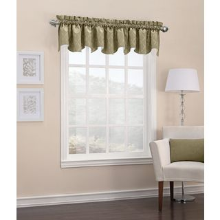 Sun Zero Viviana Woven Trellis Energy Efficient Thermal Insulated Rod Pocket Valance