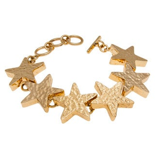 Handmade Alchemia Hammered Star Bracelet (Mexico)