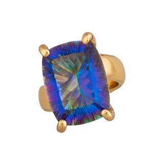 Handmade Mystic Quartz Adjustable Ring( Mexico)