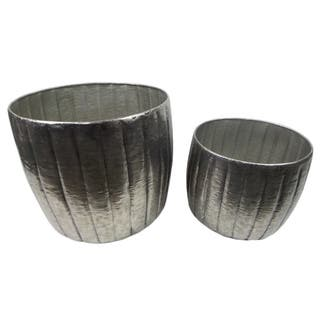Gold Eagle Silvertone Metal Planters (Set of 2)|https://ak1.ostkcdn.com/images/products/15811158/P22225701.jpg?impolicy=medium