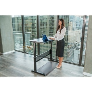 Canary Black Adjustable Height Crank Desk
