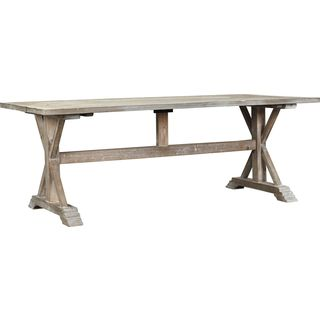 Burnham Home Designs Charlotte Rustic Dining Table, Grey Wash
