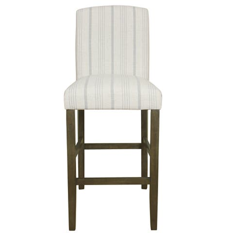 """HomePop Classic Parsons High Back 29"""" Barstool - Dove Grey Stripe - 29 inches"""