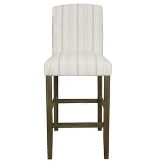 "HomePop Classic Parsons High Back 29"" Barstool - Dove Grey Stripe|https://ak1.ostkcdn.com/images/products/15811426/P22225931.jpg?impolicy=medium"