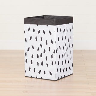 South Shore Storit White/Grey Laundry Hamper Feathers Print