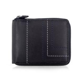 Faddism BRANDIO Series Men's Genuine Leather Zipper Closure Bifold Wallet With Design Stitching Trim https://ak1.ostkcdn.com/images/products/15811622/P22226074.jpg?impolicy=medium