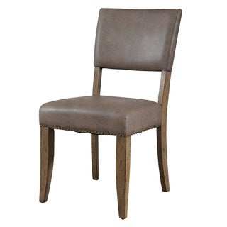 Hillsdale Furniture Charleston Desert Tan Finish Parsons Dining Chairs (Set of 2)