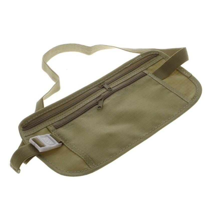 Durable Lightweight Travel Pouch Waist Belt (Belt), Tan