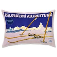 Oliver Gal 'Bilgeri Ski' Decorative Throw Pillow