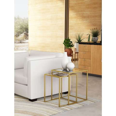 Calais Brass Nesting Tables (Set of 2)