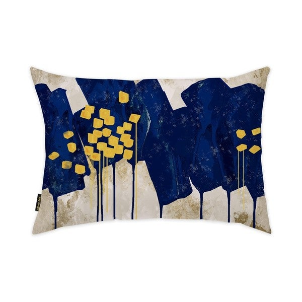 Oliver Gal 'Sapphire Movement'DecorativeThrow Pillow