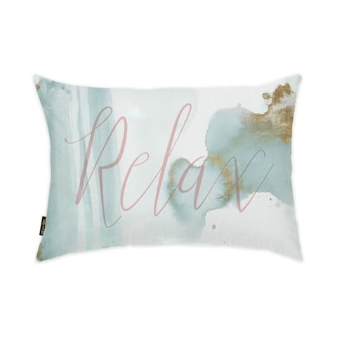 Oliver Gal 'Relax' Decorative Throw Pillow