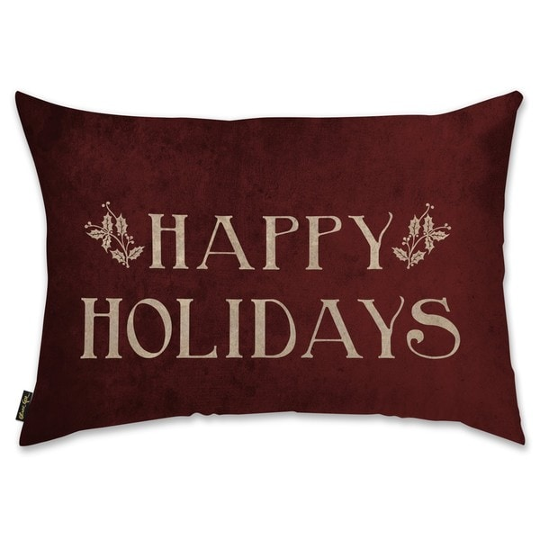 Oliver Gal 'Happy Holidays' Decorative Throw Pillow