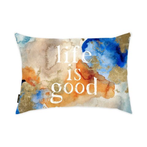 Oliver Gal 'Life Is Good' Decorative Throw Pillow