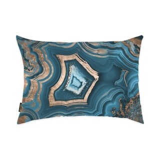 Oliver Gal 'Dreaming About You Geode' Decorative Throw Pillow