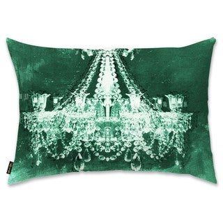 Oliver Gal 'Dramatic Entrance Green' Decorative Throw Pillow