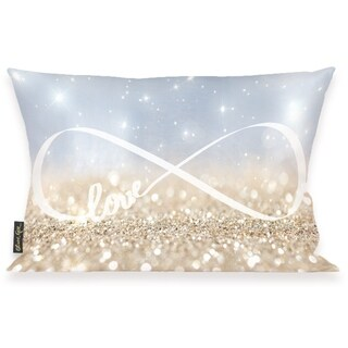 Oliver Gal 'Infinite Love Sign' Decorative Throw Pillow