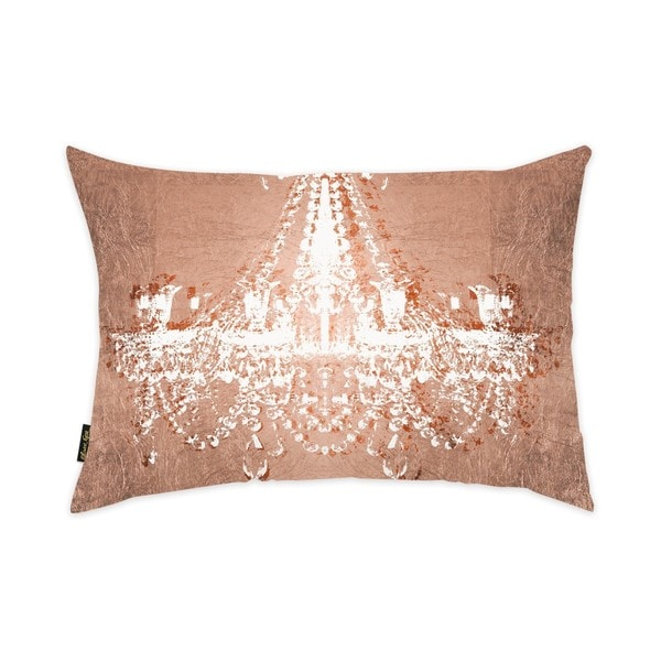 Oliver Gal 'Dramatic Entrance Rose' Decorative Throw Pillow