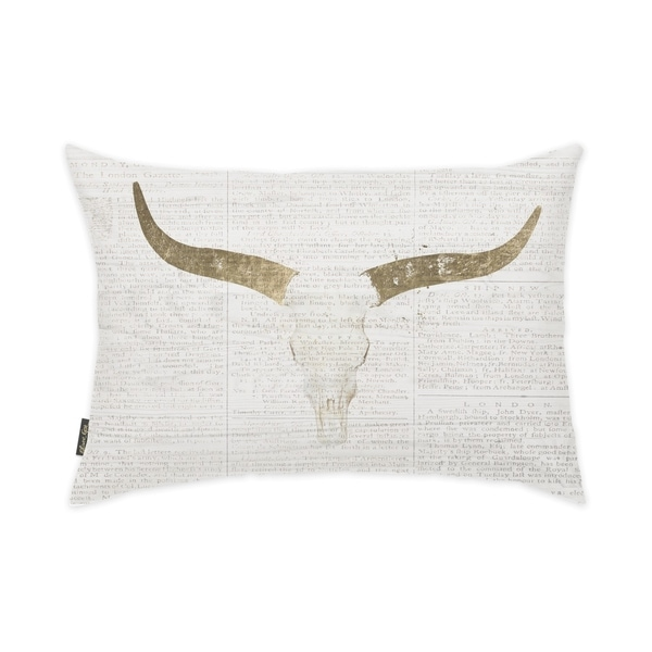 Oliver Gal 'Evening Desert Skull' Decorative Throw Pillow