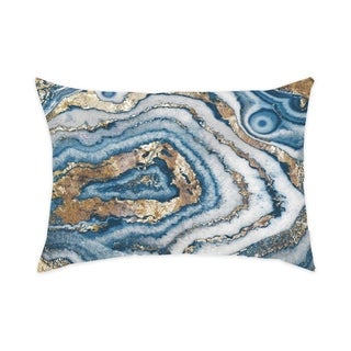 Oliver Gal 'Bleu Agate'DecorativeThrow Pillow