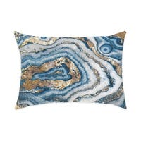 Oliver Gal 'Bleu Agate'DecorativeThrow Pillow