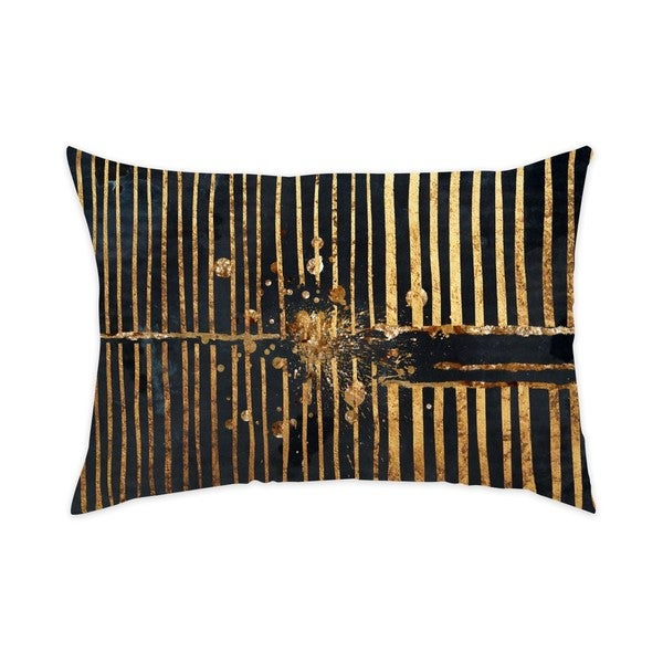 Oliver Gal 'Love Force Field Night' Decorative Throw Pillow