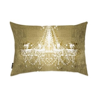 Oliver Gal 'Dramatic Entrance GOLD' Decorative Throw Pillow