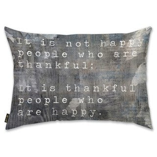 Oliver Gal 'Happy People' Decorative Throw Pillow