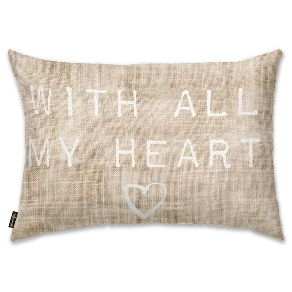 Oliver Gal 'With All My HeDecorativeThrow Pillow' Decorative Throw Pillow
