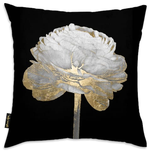 Oliver Gal 'Gold and Light Floral II'DecorativeThrow Pillow