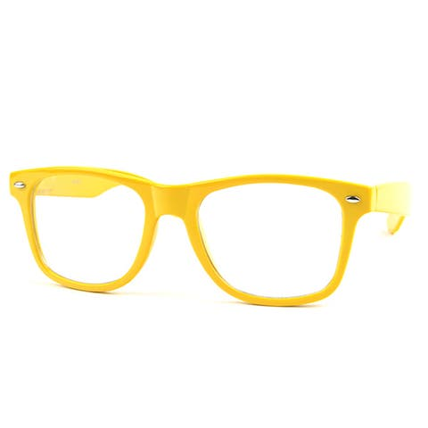 Pop Fashionwear P713CL Wayfarer Unisex Clear Lens Spring Hinge Glasses