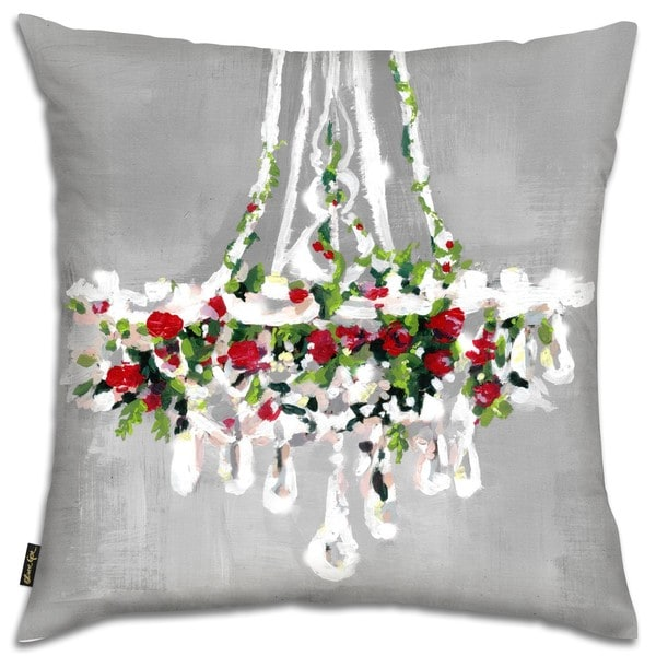 Oliver Gal 'Christmas Chandellier' Decorative Throw Pillow